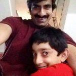 रवि तेजा अपने बेटे के साथ