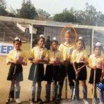 बचपन के दिनों में संदीप सिंह हॉकी का प्राप्त करते हुए