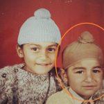 संदीप सिंह अपने बचपन दिनों में अपने बड़े भाई के साथ