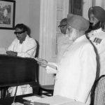 वर्ष 1969 में करुणानिधि मुख्यमंत्री की शपथ लेते हुए
