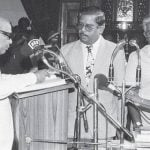 वर्ष 1996 में चौथी बार करुणानिधि तमिलनाडु के मुख्यमंत्री के रूप में शपथ ग्रहण करते हुए