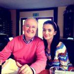 एमी जैक्सन अपने पिता के साथ