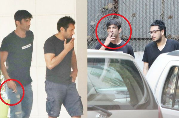 Sushant Rajput smoking