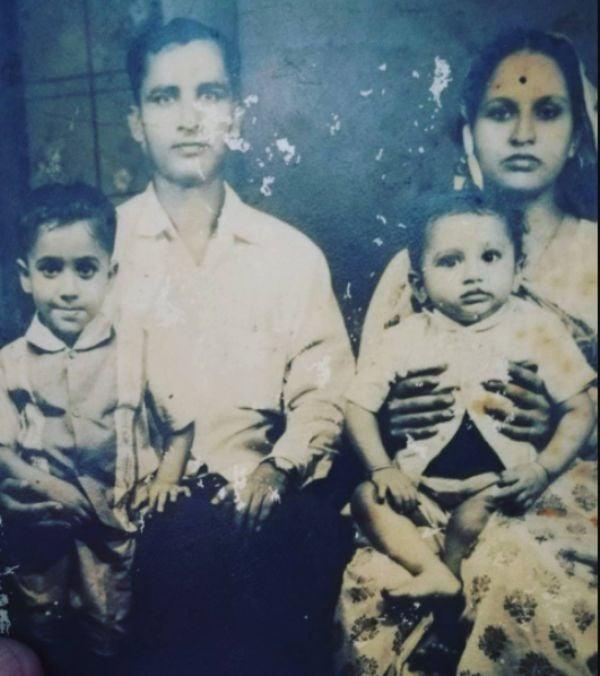 Awadhesh with his family
