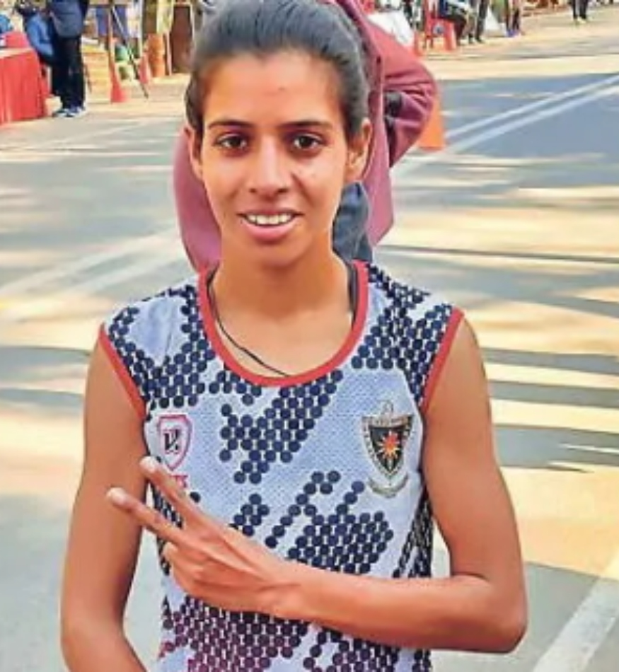 Bhawna during a race