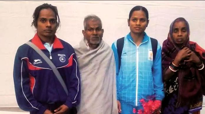 Dutee Chand with her family