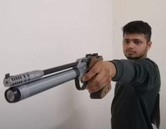 Manish Narwal practicing at home